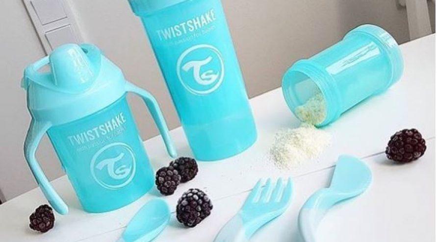 Twistshake® Početni pribor za jelo Pastelno Crna (6+m)