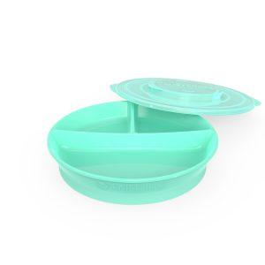Twistshake® Podijeljeni tanjirić 210ml + 2x90ml Pastelno Zelena (6+m)