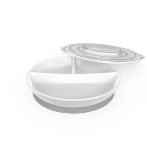 Twistshake® Podijeljeni tanjirić 210ml + 2x90ml Bijeli (6+m)