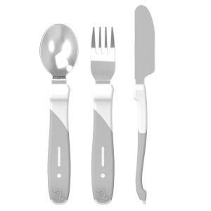 Twistshake® Pribor za jelo od nehrđajućeg čelika Bijeli (12+m)
