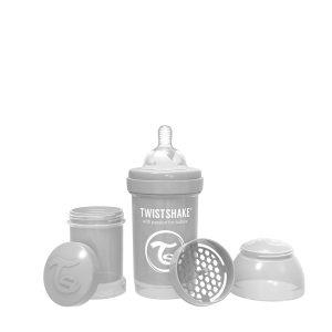 Twistshake® Anti-Colic 180ml Pastelno Siva
