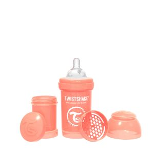 Twistshake® Anti-Colic 180ml Pastelno Narandžasta
