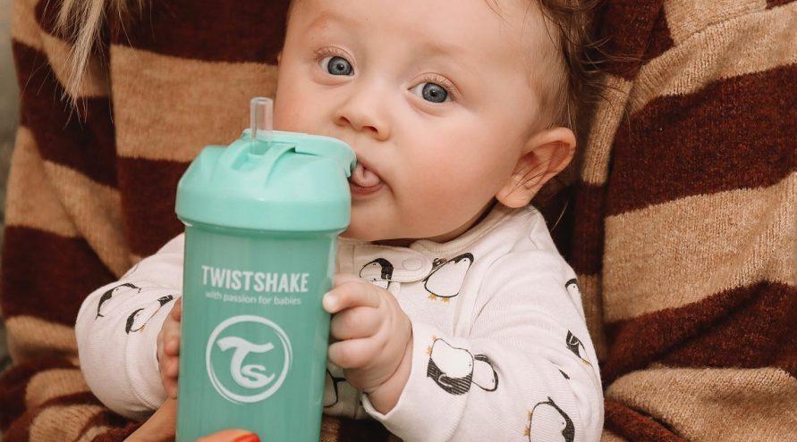 Twistshake® Bočica sa slamkom 360ml (12+m) Siva
