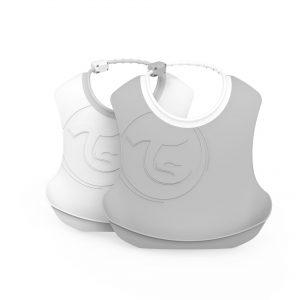 Twistshake® Dva Siperčića Pastelna Bijela & Siva