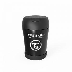 Twistshake® Termo posudica za hranu 350ml Crna